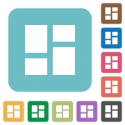 Admin dashboard panels white flat icons on color rounded square backgrounds - Admin dashboard panels rounded square flat icons
