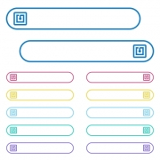 NFC sticker icons in rounded color menu buttons. Left and right side icon variations. - NFC sticker icons in rounded color menu buttons