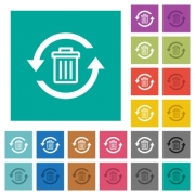 Undelete multi colored flat icons on plain square backgrounds. Included white and darker icon variations for hover or active effects. - Undelete square flat multi colored icons
