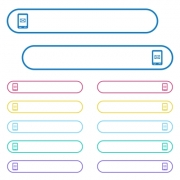 Unread SMS message icons in rounded color menu buttons. Left and right side icon variations. - Unread SMS message icons in rounded color menu buttons