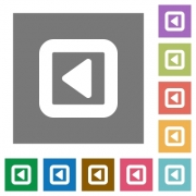 Toggle left flat icons on simple color square backgrounds - Toggle left square flat icons