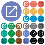 Launch application multi colored flat icons on round backgrounds. Included white, light and dark icon variations for hover and active status effects, and bonus shades on black backgounds. - Launch application round flat multi colored icons