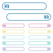 News icons in rounded color menu buttons. Left and right side icon variations. - News icons in rounded color menu buttons