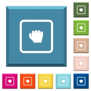 Grab object white icons on edged square buttons in various trendy colors - Grab object white icons on edged square buttons