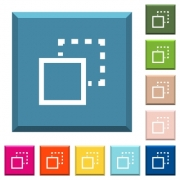 Send element to back white icons on edged square buttons in various trendy colors - Send element to back white icons on edged square buttons