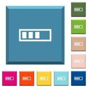 Progressbar white icons on edged square buttons in various trendy colors - Progressbar white icons on edged square buttons