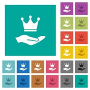 Premium services multi colored flat icons on plain square backgrounds. Included white and darker icon variations for hover or active effects. - Premium services square flat multi colored icons
