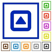 Toggle up flat color icons in square frames on white background - Toggle up flat framed icons