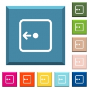 Move object left white icons on edged square buttons in various trendy colors - Move object left white icons on edged square buttons