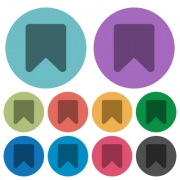Bookmark darker flat icons on color round background - Bookmark color darker flat icons