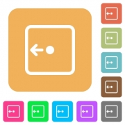 Move object left flat icons on rounded square vivid color backgrounds. - Move object left rounded square flat icons