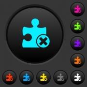 Cancel plugin dark push buttons with vivid color icons on dark grey background - Cancel plugin dark push buttons with color icons