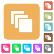 Multiple canvases flat icons on rounded square vivid color backgrounds. - Multiple canvases rounded square flat icons