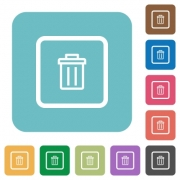 Delete object white flat icons on color rounded square backgrounds - Delete object rounded square flat icons