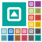 Toggle up multi colored flat icons on plain square backgrounds. Included white and darker icon variations for hover or active effects. - Toggle up square flat multi colored icons