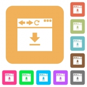 Browser download flat icons on rounded square vivid color backgrounds. - Browser download rounded square flat icons