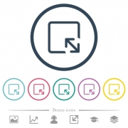 Resize object flat color icons in round outlines. 6 bonus icons included. - Resize object flat color icons in round outlines