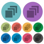 Multiple canvases darker flat icons on color round background - Multiple canvases color darker flat icons