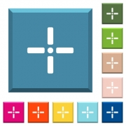 Precise cursor white icons on edged square buttons in various trendy colors - Precise cursor white icons on edged square buttons