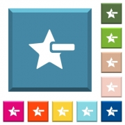 Remove star white icons on edged square buttons in various trendy colors - Remove star white icons on edged square buttons