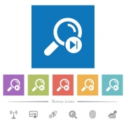 Find next search result flat white icons in square backgrounds. 6 bonus icons included. - Find next search result flat white icons in square backgrounds