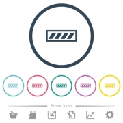Progress bar flat color icons in round outlines. 6 bonus icons included. - Progress bar flat color icons in round outlines
