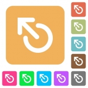 Media eject flat icons on rounded square vivid color backgrounds. - Media eject rounded square flat icons