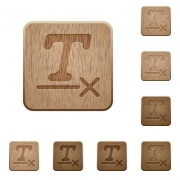 Clear text format on rounded square carved wooden button styles - Clear text format wooden buttons