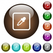Get object color white icons on round color glass buttons - Get object color color glass buttons