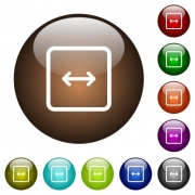 Adjust object width white icons on round color glass buttons - Adjust object width color glass buttons