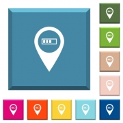 Route planning GPS white icons on edged square buttons in various trendy colors - Route planning GPS white icons on edged square buttons