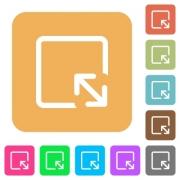 Resize object flat icons on rounded square vivid color backgrounds. - Resize object rounded square flat icons