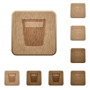 Drink on rounded square carved wooden button styles - Drink wooden buttons