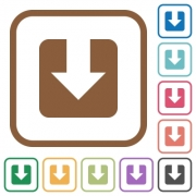 Download simple icons in color rounded square frames on white background - Download simple icons