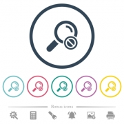 Search disabled flat color icons in round outlines. 6 bonus icons included. - Search disabled flat color icons in round outlines