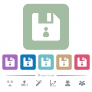 File owner white flat icons on color rounded square backgrounds. 6 bonus icons included - File owner flat icons on color rounded square backgrounds
