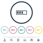 Progressbar flat color icons in round outlines. 6 bonus icons included. - Progressbar flat color icons in round outlines