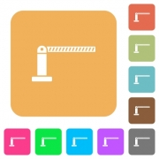 Closed barrier flat icons on rounded square vivid color backgrounds. - Closed barrier rounded square flat icons