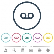 Voicemail flat color icons in round outlines. 6 bonus icons included. - Voicemail flat color icons in round outlines