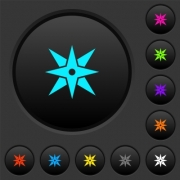 Compass dark push buttons with vivid color icons on dark grey background - Compass dark push buttons with color icons