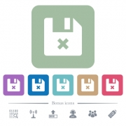 Cancel file white flat icons on color rounded square backgrounds. 6 bonus icons included - Cancel file flat icons on color rounded square backgrounds