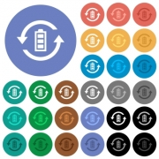 Renewable energy multi colored flat icons on round backgrounds. Included white, light and dark icon variations for hover and active status effects, and bonus shades. - Renewable energy round flat multi colored icons