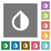 Invert colors flat icons on simple color square backgrounds - Invert colors square flat icons - Large thumbnail