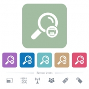 Print search results white flat icons on color rounded square backgrounds. 6 bonus icons included - Print search results flat icons on color rounded square backgrounds