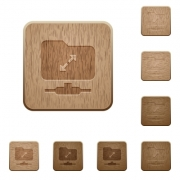 FTP uncompress on rounded square carved wooden button styles - FTP uncompress wooden buttons