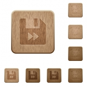 File fast forward on rounded square carved wooden button styles - File fast forward wooden buttons