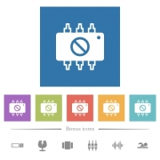 Hardware disabled flat white icons in square backgrounds. 6 bonus icons included. - Hardware disabled flat white icons in square backgrounds