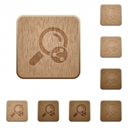 Share search on rounded square carved wooden button styles - Share search wooden buttons