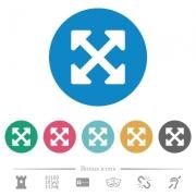 Resize full alt flat white icons on round color backgrounds. 6 bonus icons included. - Resize full alt flat round icons