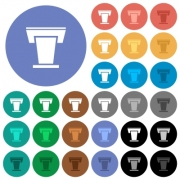 Conference podium multi colored flat icons on round backgrounds. Included white, light and dark icon variations for hover and active status effects, and bonus shades. - Conference podium round flat multi colored icons